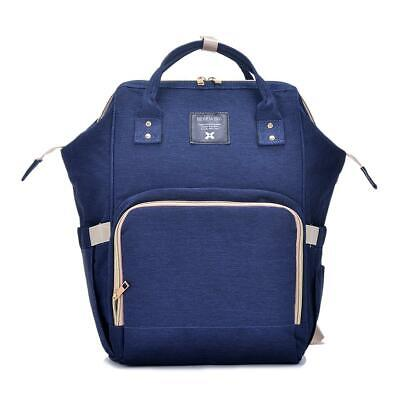 Navy Fashion Large Mummy Maternity Nappy Diaper Bags Baby Bag Travel Backpack AU