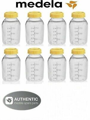8 Medela Breastmilk Collection / Storage Feeding Bottle Set W/Lid 5oz /150ml New