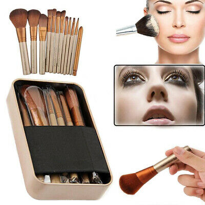 12Pcs Eyeshadow Brushes Set Powder Foundation Lip Cosmetic Make Up Brush Tool