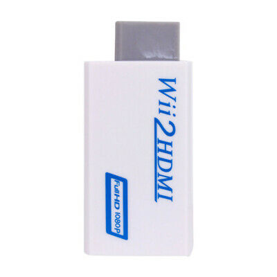 For Wii to HDMI Converter Adapter 720p 1080p HD Upscale 3.5mm Audio Output New