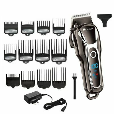 Hair Barber Professional Trimmer Clipper Machine Kit Haircut Cutting Cut Set New
