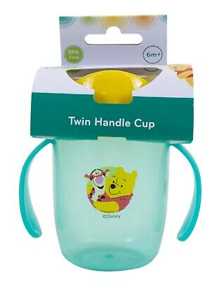 Winnie the pooh Toddler Baby Sippy Drinking Bottle Cup Infant Children Non Spill