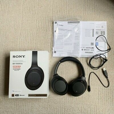 Ex-display Sony WH-1000XM3 Wireless Bluetooth Noise Cancelling Headphones Black