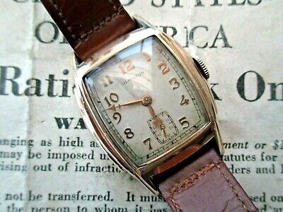 Lovely Rare Hamilton Gents Vintage Watch.super Art Deco Stepped Case.1930.