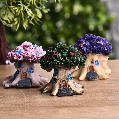 Fairy Tree House Miniature Garden Lawn Patio Outdoor Landscapes Decor Ornaments