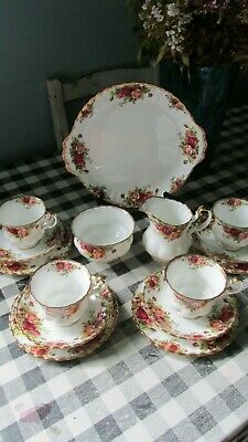 Royal Albert Old Country Roses, 15 piece  Tea Set, Tableware,