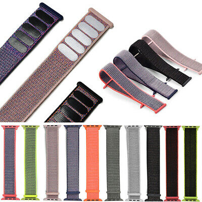 Sport Loop Woven Nylon Watch Band Strap For Apple Watch iWatch Series 1/2/3/4