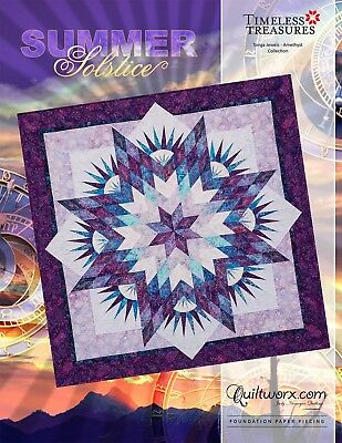 Summer Solstice New for 2018 Paper Piecing Judy Niemeyer Quilt Pattern