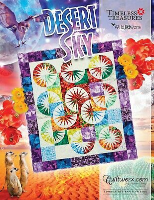 "Judy Niemeyer DESERT SKY Foundation Paper Pieced Quilt Pattern 45"" x 54"""