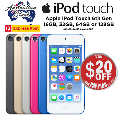 Apple iPod Touch 6th Gen  32GB / 64GB All Colors Available - Express Post