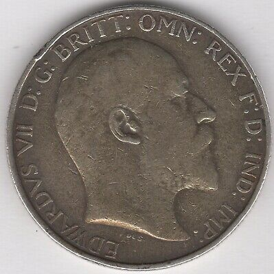 1908 Edward VII Silver Florin/Two Shillings | British Coins | Pennies2Pounds