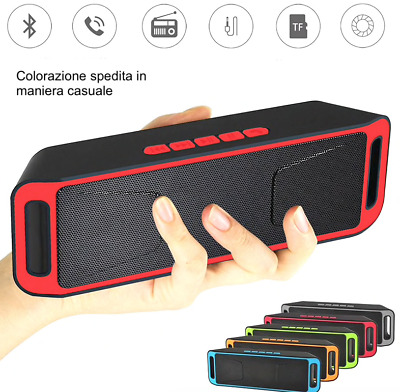 Cassa portatile con radio FM USB Mp3 bluetooth tablet smartphone speaker pc