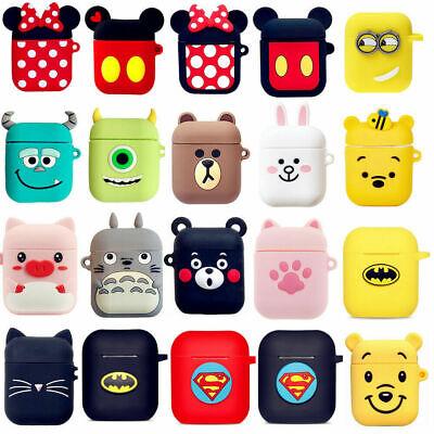 Per Apple Airpods Cartoon Portatile Custodia Cover Copertine Protettiva Silicone
