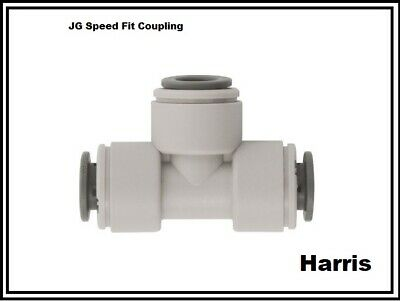 JG Speedfit Push Fit Tube Couplings Equal Tee T Air Connector pack 0f 10