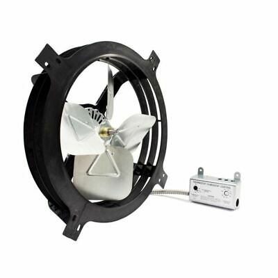 New Air Vent 18-in Dia Electric Gable-mount Vent Fan with Thermostat/Humidistat