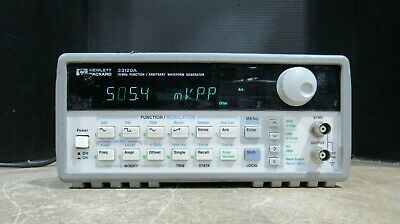 Hewlett Packard HP 33120A 15MHz Function / Arbitrary Waveform Generator Tested