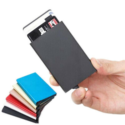 Aluminum Alloy Credit Card Holder Wallet Antimagnetic Waterproof Protective CaES