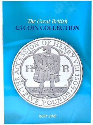 NEW 2019 £5 Five Pounds Coin Collectors Album Holds 35 Coins Henry VIII Crowns