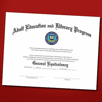 Blank GED certificate high school diploma novelty prop commemorative