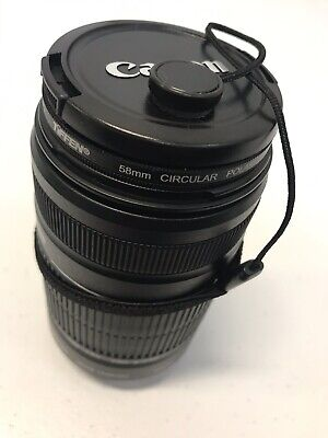 Canon EFS 55-250mm F4-5.6 IS II STM Lens for Canon SLR Cameras EUC + Tiffen 58mm