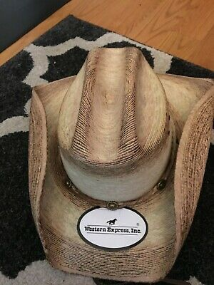 dc32174c Western Express Classic Cattleman Straw Cowboy Hat-Brand New with Tag Size  XL