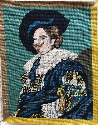 Vintage Hand Done Penelope Tapestry The Laughing Cavalier