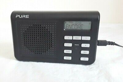 PURE One Mi Series 2 portable DAB AM/FM Radio Black with Plug