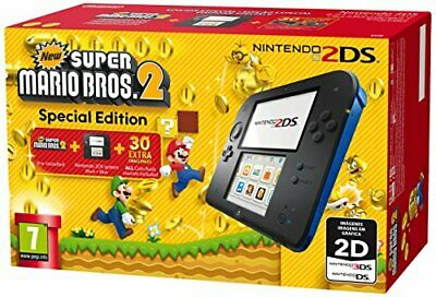 Nintendo Handheld Console 2DS -  Black/Blue with New Super Mario Bros 2 (New) -