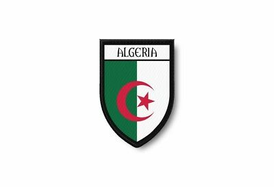 ALGERIA FLAG PATCH ALGERIAN EMBROIDERED SOUVENIR new w// VELCRO® Brand Fastener