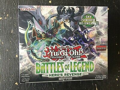 Konami Yu-Gi-Oh Battle Of Legends Hero's Revenge Booster Box Factory Sealed