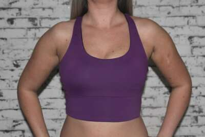 Pole Dance Plum Long Line Racer Back Bra