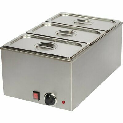 Commercial Bain Marie 3xGN1/3 Including 3 containers with lid