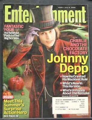 JOHNNY DEPP Charlie & the Chocolate Factory, ENTERTAINMENT WEEKLY 2005