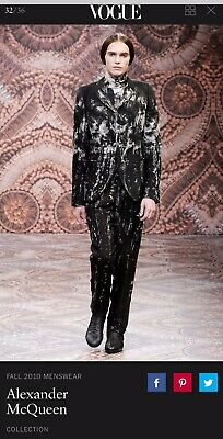 Alexander Mcqueen Collector Runway Garment Suit Men Last Collection Before Death