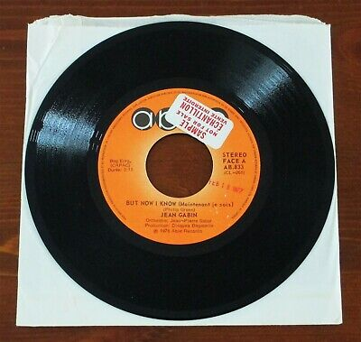 "JEAN GABIN - But Now I Know RARE Canadian PROMO 7"" 45 EX!"