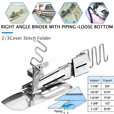 Industrial Sewing Machine Angle Binder Binding Attachment For 2/3 Needle Cover