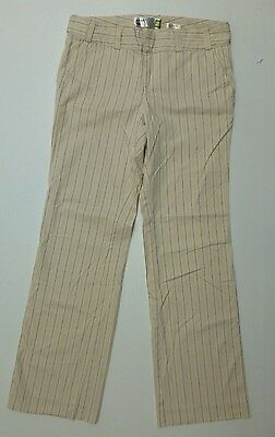 Old Navy Pants Womens Size 4 Beige With Tan Stripes Khaki Excellent Condition