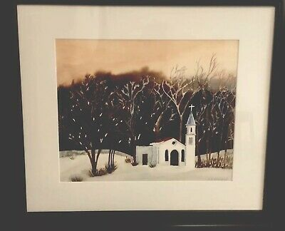 original watercolor painting signed framed