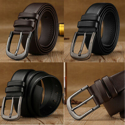 New Mens PU Leather Belts Buckle Belt For Jeans Big Tall King Sizes 36.6-39in
