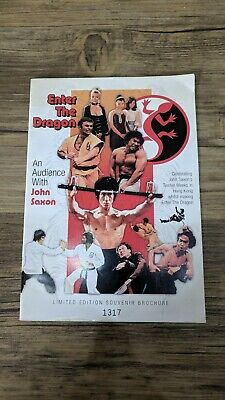 Bruce Lee An Audience with John Saxon Enter the Dragon Limited Edition Book Rare