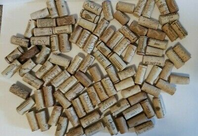 Lot of 100 Used All Natural Wine Corks - different brands/wineries