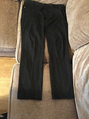 HUGO BOSS Chino Jeans Green Tag Size 38W 34L Mens Black Long Stretch