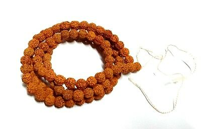 Rudraksha Mala 5 Mukhi Rudraksh Rosary Mala 9 Mm Beads Size Necklace Energized