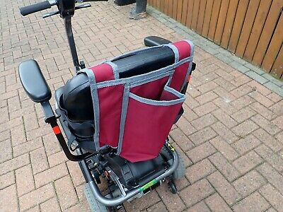 Burgandy Mobility Scooter Behind the seat Walking stick Bag fully adjustable