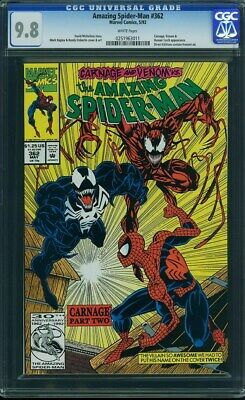 Amazing SPIDER-MAN #362 CGC 9.8 Venom & Carnage Marvel Comics nMint MINT NM MT