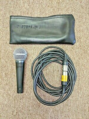 Shure SM58 Wired Microphone with 20' used Cord, Used, Tested, Works Great!