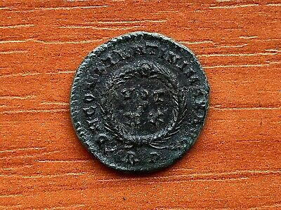 Constantine the Great 308-337 AD AE Follis Vot in Wreath Ancient Roman Coin