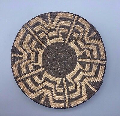 Vintage Native American (Pima, O'odham) Basket With Unique Butterfly Pattern