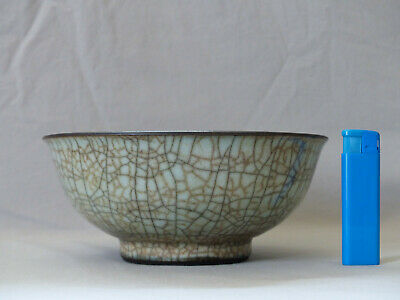 Chinese Porcelain Ge Type Crackle Glazed Bowl
