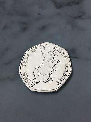 The Tale Of Peter Rabbit 50P Coin 2017 Fifty Pence Beatrix Potter